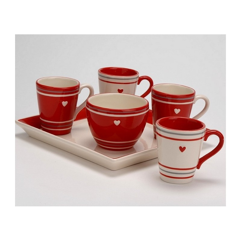 service tasses caf amadeus coeur de d co. Black Bedroom Furniture Sets. Home Design Ideas