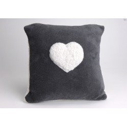 Coussin mouton coeur Anthracite Amadeus