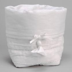 Panier en tissu blanc secret Amadeus