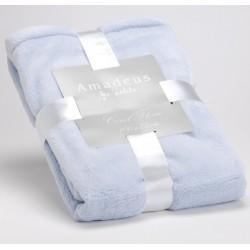 Plaid bébé bleu layette 100 x 75 cm Amadeus