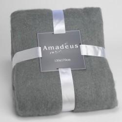 Plaid douceur gris 130 x 170 cm Amadeus
