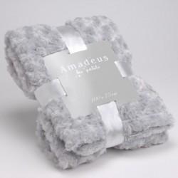 Plaid bébé tout doux gris 100 x 75 cm Amadeus