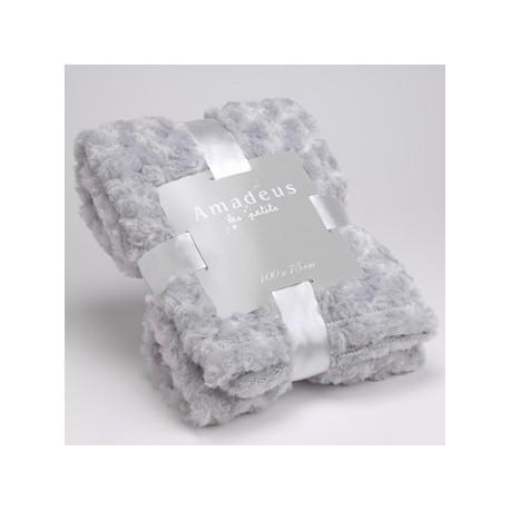 plaid b b tout doux gris 100 x 75 cm amadeus coeur de d co. Black Bedroom Furniture Sets. Home Design Ideas