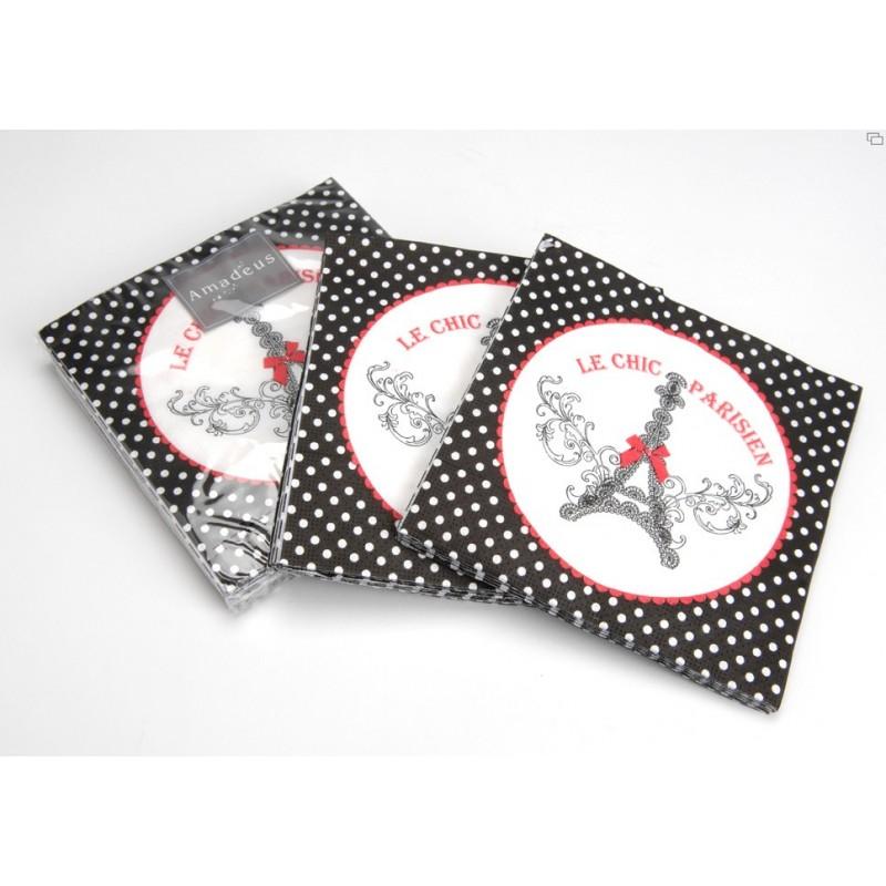Serviettes de table en papier amadeus coeur de d co for Amadeus deco vente en ligne
