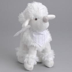Peluche chien blanc Amadeus