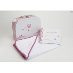 Coffret  de naissance cape de bain + Album photo Amadeus