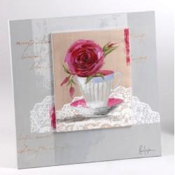 Toile fleur Amadeus