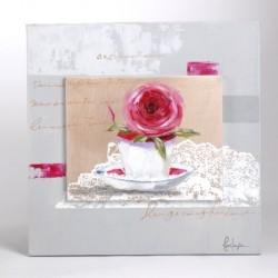 Toile décorative fleur Amadeus